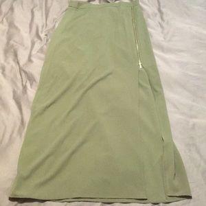 High waisted army green skirt